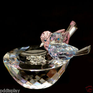 Birds on Bowl Austrian crystal figurine ornament RRP$289