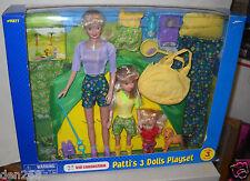 #2367 NRFB Walmart Kid Connection Patti's 3 Dolls Playset