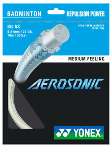 YONEX aerosonic 0.61 mm Badminton Strings Set 							 							</span>
