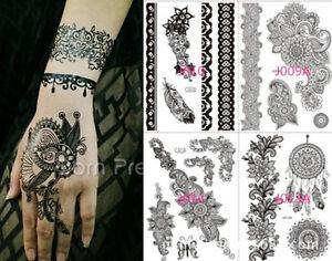 Tatuajes Henna El Salvador dream catcher henna tattoo lace body decals waterproof paper