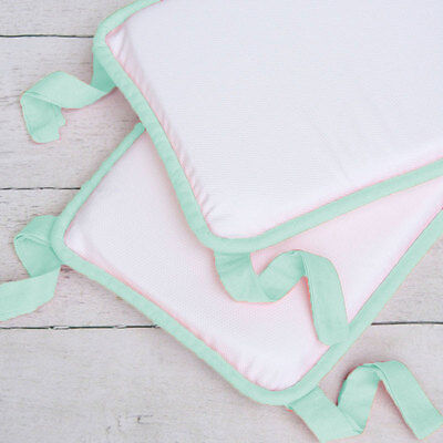 Uni Baby Crib Bedding Plain Bumper, Plain White Baby Bedding