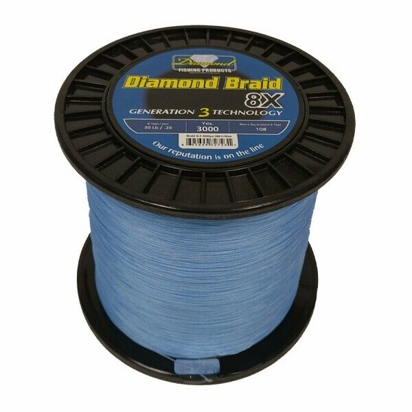Momoi Diamond Braid Generation III Fishing Line 8X - Blue - 100lb - 600 yards