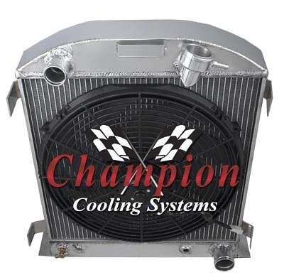 2 Row BC Champion Radiator for 1932 Ford Chopped Chevy//Mopar Configuration