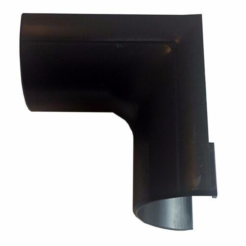 90 Degré conduit 50 mm x 25 mm Noir Clip-Over interne Bend Trunking Adaptateur