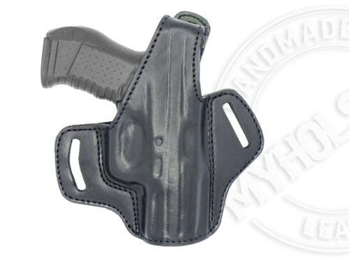 OWB Thumb Break Leather Belt Holster Fits Canik TP9SF