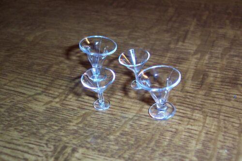 2 Oooh-miniatura 1:12 casa delle bambole 2 bicchieri da cocktail
