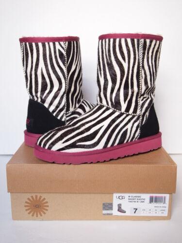 UGG AUSTRALIA Classic Short EXOTIC ZEBRA Boots WOM