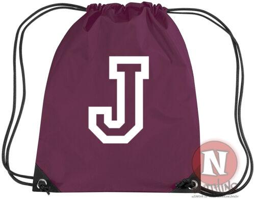 Add your initial Allstar college School kit bag drawstring gym P E school