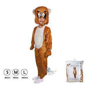 aspetto dettagliato outlet economico per lo sconto Dettagli su COSTUME di CARNEVALE LEONE Vestito bambino vestitino maschera  maschere
