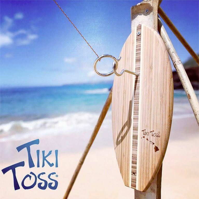 Tiki Toss Hook and Ring Game - surfboard surf surf surf surfing design decor decoration 894d5b