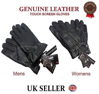 schwarz 1 Paar Herrenhandschuhe gefüttert ECHT Nappaleder Gr.9
