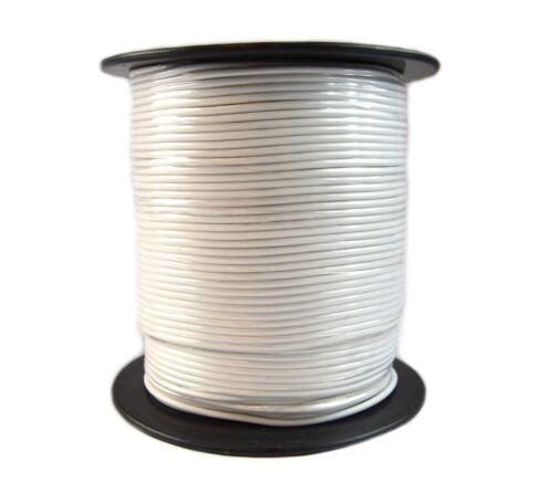 18 Gauge 500' Feet 1 Roll White Power Wire Remote Stranded Wire