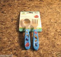 Disney Baby Finding Nemo Toddler Fork And Spoon Flatware Set