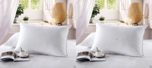 2 Firm Goose Down Filled Pillows StandardQueen and King Sizes 750FP 500TC