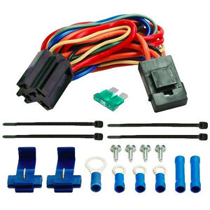 electric fan wire harness kit dual 12v radiator fans. Black Bedroom Furniture Sets. Home Design Ideas
