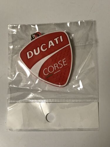 motorcycle keychain Rubber Ducati Corse Red /& White