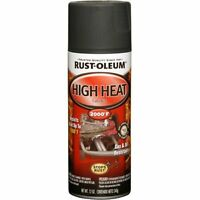 Automotive 12 Oz High Heat 2000 Degree Spray Paint Flat Black Resists Rust, Salt