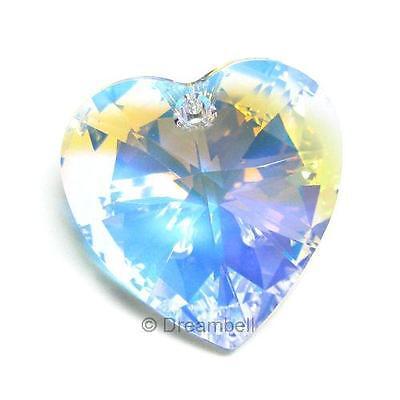 Swarovski Crystal 6228 Heart AB Xilion Pendant Element Many Color / Size ~ #1