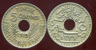 100% Kwaliteit Tunisie 5 Centimes 1919