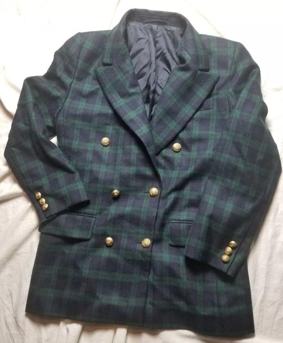 Vintage BROOKS BredHERS Tartan Plaid MADE ENGLAND blazer sportcoat size 8