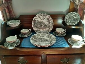 Vintage Royal Mail Fine Staffordshire Ironstone England Dinner Set 20 pc