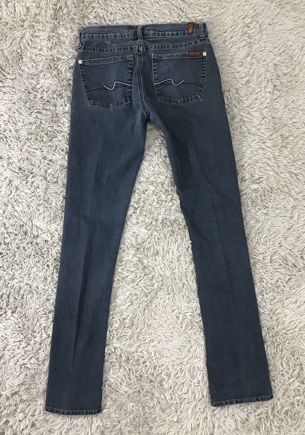 7 For All Mankind Jeans Roxy Slim Skinny Fitted Sz 27 (28x31)