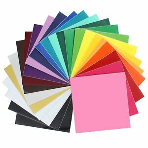 """Oracal 651 Glossy Vinyl - 24 Pack of Top Colors - 12"""" x 12"""" Sheets"""