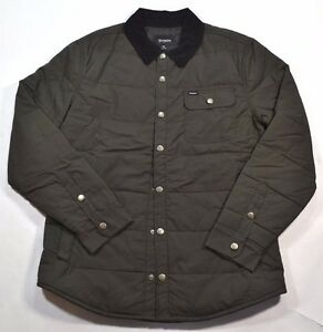 Image is loading Brixton-CASS-JACKET-Black-Black-Quilted-Corduroy-Collar- a3bfcd5e9a9