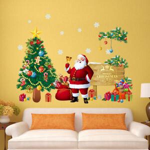 autocollant-de-mur-de-Noel-amovible-art-vinyle-maison-et-fenetre-decalque-decor