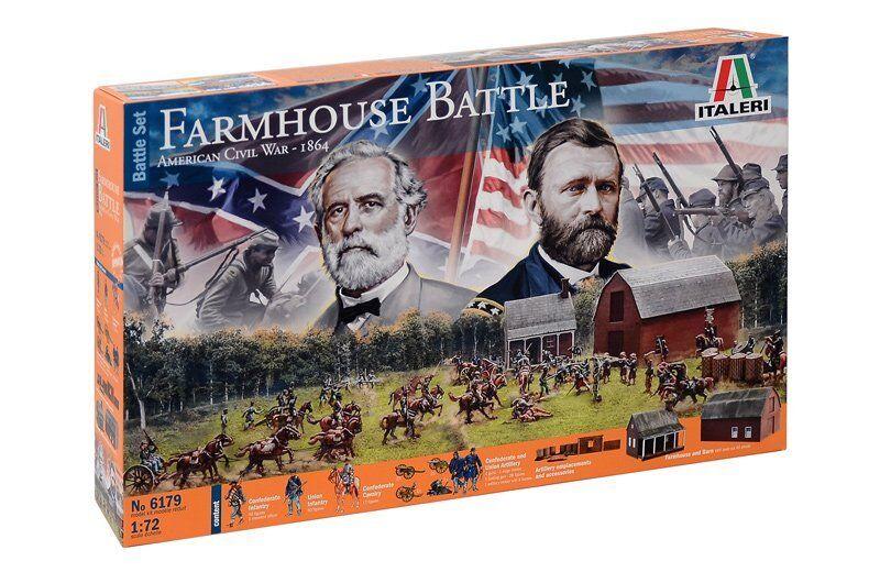 Italeri 6179 - 1 72 Farmhouse Battaglia - American Civile War 1864 - Battleset -
