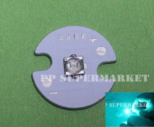 10pcs//lot Cyan 3W 490nm Led on 16mm Star Board