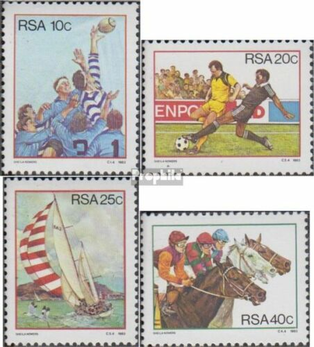 South Africa 634637 complete.issue. fine used cancelled 1983 Sports