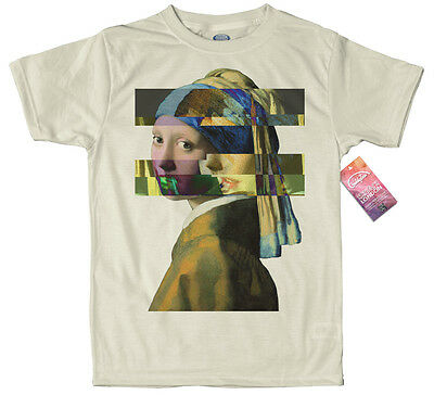 Girl with a Pearl Earring - Johannes Vermeer T shirt  Glitch Design