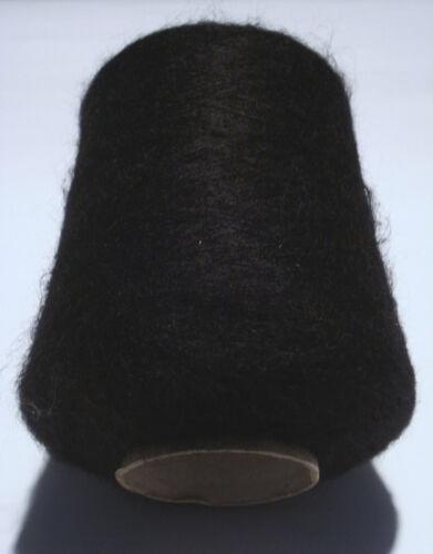Filati maglia gomitoli rocca 950Gr Kid Mohair Merinos extrafine Nero
