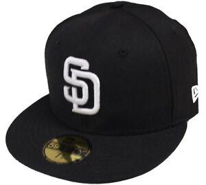 New Era San Diego Padres blanco y negro 59fifty Gorra Ajustada De ... 55af627782a
