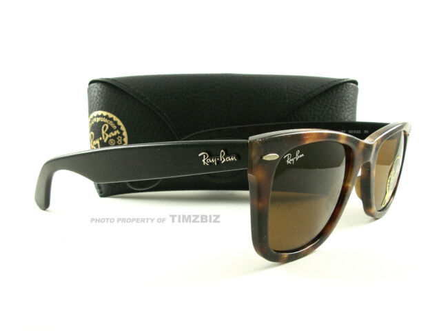 59b97201e7 New Ray-Ban Sunglasses RB2140 Tortoise Black Distressed Wayfarer 1187  Authentic