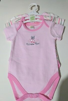 CR1014^ Baby Goods Short  Sleeves Body Suits One Piece Stripes S M L 6 Pc Lot