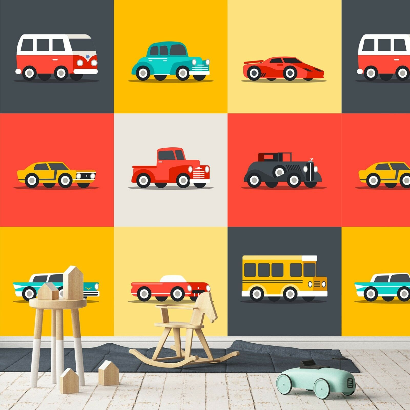 3D ROT Car 763 Wall Paper Print Wall Decal Deco Indoor Wall Murals US Summer