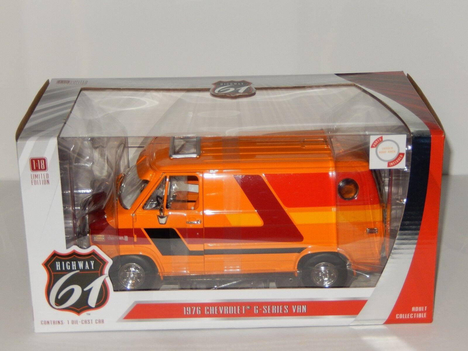 1 18 Scale Highway-61 1976 Chevrolet G-Series Van, Item No. HWY-18012