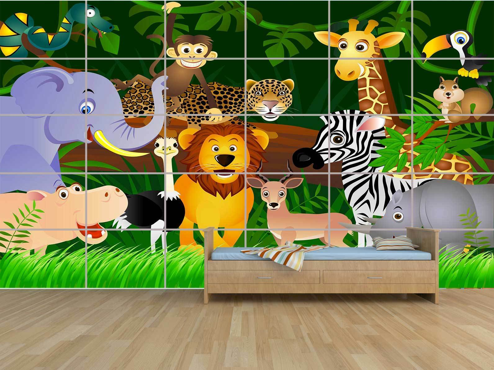 Enfants Jungle Baby Kids  POSTER MASSIVE HUGE ROOM KIDS