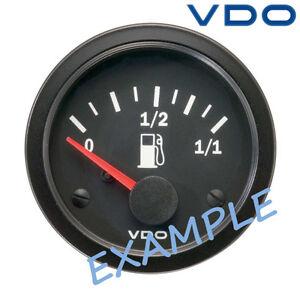 """VDO Viewline Fuel Level Marine Gauge Boat 52mm 2/"""" 12//24V Black A2C59514082"""