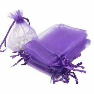 2PCS-ORGANZA-Wedding-Favour-XMAS-GIFT-BAGS-Jewellery-Candy-Pouches