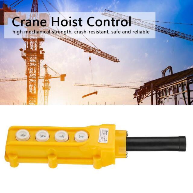Crane Chain Hoist 4 Way Push Button Switch Pendant Lift Control COB61A
