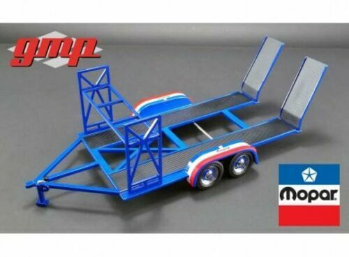 1 18 Gmp  18916 18916 Trailer Mopar bluee White Red Model Made of Metal
