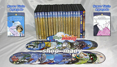Coleccion de 22 Peliculas en DVD del Studio Ghibli dobladas al ESPAÑOL LATINO