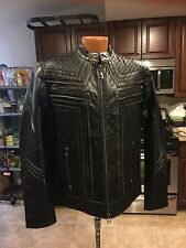 AFFLICTION Lemmy MOTO Leather Jacket Limited Edition XL 110W145 $595 Retail