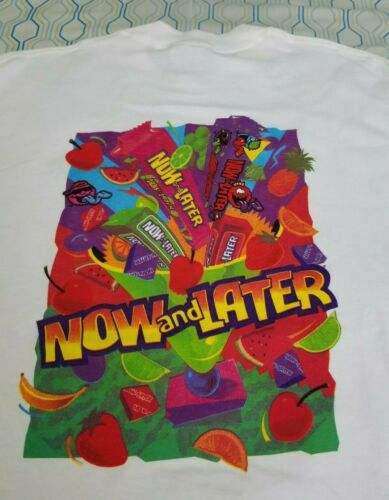 Vintage 90s Now and Later Candy T Shirt Now & Late