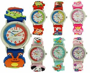 Ravel-Girls-Boys-Childrens-Kids-3D-Fun-Design-Time-Teacher-Watch-Christmas-Gift