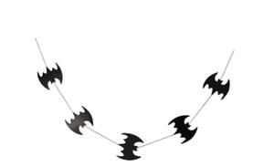 Halloween Bats Paper Garland Banner (6 1/2 FT) (BRAND NEW IN PACKAGING)