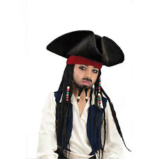 Pirates Of The Caribbean Deluxe Child Costume Hat & Wig with Beaded Braids